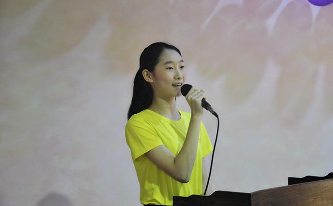 艺知艺考教育音乐班代表马晓泳同学发言